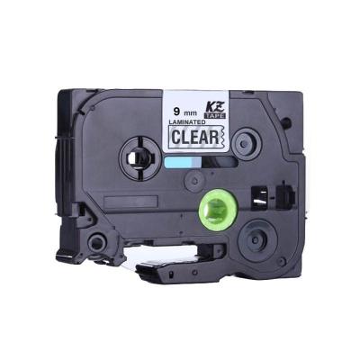 Taśma zamiennik Brother TZ-S121 / TZe-S121 9mm x 8m mocno klejący, czarny druk / przezroczysty podkład