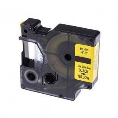 Taśma zamiennik Dymo 18054, S0718290, 9mm x 1, 5m czarny druk / żółty podkład
