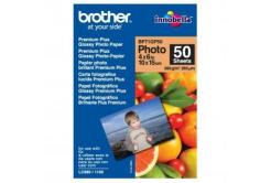 """Brother BP71GP50 Premium Glossy Photo Paper, papier fotograficzny, błyszczący, biały, 10x15cm, 4x6"""", 260 g/m2, 50 szt."""