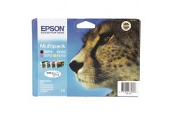 Epson T0715 błekitna/purpurowa/żółta/czarna (cyan/magenta/yellow/black) tusz oryginalna