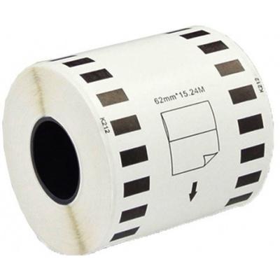 Brother zamiennik DK-22212, 62mm x 15,24m, biały, film, etykiety