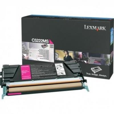 Lexmark C5222MS purpurowy (magenta) toner oryginalny