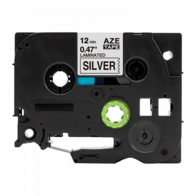 Taśma zamiennik Brother TZ-931 / TZe-931, 12mm x 8m, czarny druk / srebrny podkład