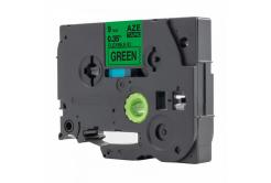 Taśma zamiennik Brother TZ-FX721 / TZe-FX721, 9mm x 8m, flexi, czarny druk / zelený po