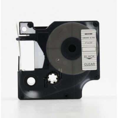Taśma zamiennik Dymo 53710, S0720920, 24mm x 7m, czarny druk / przezroczysty podkład
