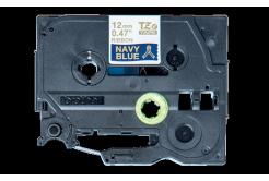 Brother TZ-RN34 / TZE-RN34, 12mm x 4m, złoty druk / niebieski podkład, taśma oryginalna