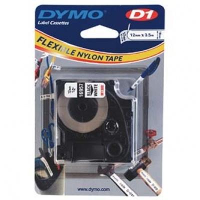 Dymo D1 16957, S0718040, 12mm x 3,5 m, czarny druk / biały podkład, taśma oryginalna