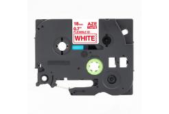 Taśma zamiennik Brother TZ-FX242 / TZe-FX242, 18mm x 8m, flexi, czerwony druk / biały podkład