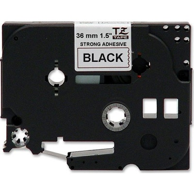 Taśma zamiennik Brother TZ-S261 / TZe-S261 36mm x 8m,mocno klejący, czarny druk / biały podkład