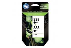HP tusz oryginalna CB331EE, HP 338, black, 900 (2x450) stron, 2x11ml, HP 2-Pack, C8765EE, PSC-1610, OJ-6210, DeskJet 6840