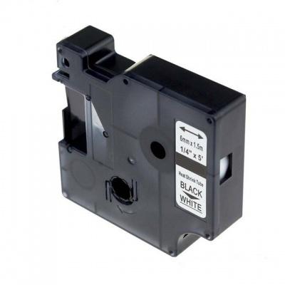 Taśma zamiennik Dymo 18051, S0718260 6mm x 1, 5m czarny druk / biały podkład
