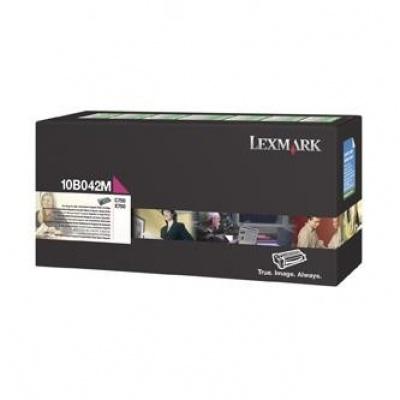 Lexmark 10B042M purpurowy (magenta) toner oryginalny