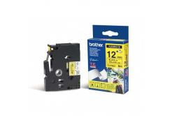 Brother TZ-FX631 / TZe-FX631, 12mm x 8m, czarny druk / żółty podkład, taśma oryginalna