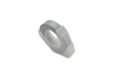 Dymo Omega, 9mm x 3m, biały druk / srebrny podkład, taśma zamiennik