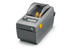 "Zebra ZD410 ZD41022-D0EE00EZ drukarka etykiet, 2"" Direct Thermal, 203 dpi, with USB, USB Host, BTLE , 10/100 LAN"
