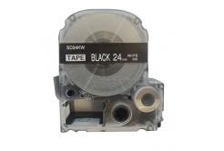 Epson LC-SD24KW, 24mm x 8m, biały druk / biały podkład, taśma zamiennik