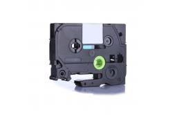 Taśma zamiennik Brother TZ-S711 / TZe-S711, 6mm x 8m, mocno klejący, czarny druk / zelený p