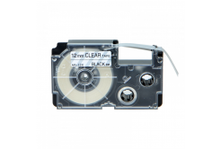 Taśma zamiennik Casio XR-12X1, 12mm x 8m czarny druk / przezroczysty podkład