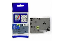 Taśma zamiennik Brother TZ-FX121 / TZe-FX121, 9mm x 8m, flexi, czarny druk / průhledný