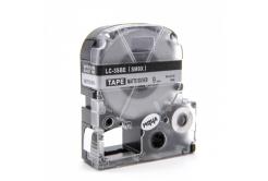 Epson LC-SM9X, 9mm x 8m, czarny druk / matowy srebrny podkład, taśma zamiennik