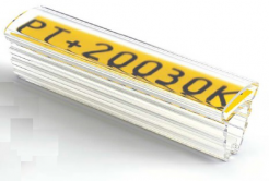 Partex PT+10021A tuleja 21mm, 200 szt., (2,5 5,0 mm), PT transparentny oznacznik z kieszenią