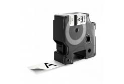 Taśma zamiennik Dymo 1734523, 24mm x 5, 5m czarny druk / biały podkład, polyester