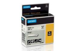 Dymo Rhino 18443, S0718580, 9mm x 5.5m czarny druk / biały podkład, taśma oryginalna
