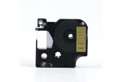 Taśma zamiennik Dymo 40923, 9mm x 7m, czarny druk / złoty podkład