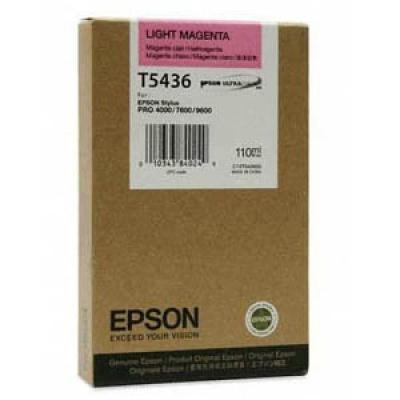 Epson T543600 jasno purpurowy (light magenta) tusz oryginalna