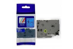 Taśma zamiennik Brother TZ-511 / TZe-511, 6mm x 8m, czarny druk / niebieski podkład
