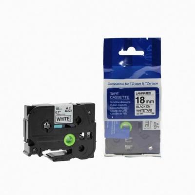 Taśma zamiennik Brother TZ-FX541 / TZe-FX541,18mm x 8m, flexi, czarny druk / niebieski podkład