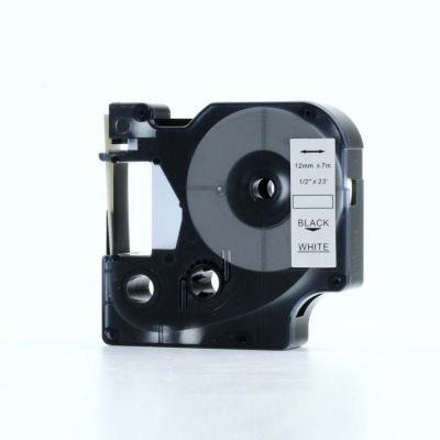 Taśma zamiennik Dymo 45013, S0720530, 12mm x 7m czarny druk / biały podkład