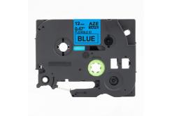 Taśma zamiennik Brother TZ-FX531 / TZe-FX531,12mm x 8m, flexi, czarny druk / niebieski podkład