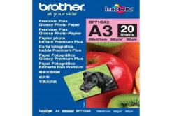 Brother BP71GA3 Glossy Photo Paper, papier fotograficzny, błyszczący, biały, A3, 260 g/m2, 20 szt.