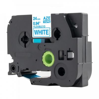 Taśma zamiennik Brother TZ-FX253 / TZe-FX253, 24mm x 8m, flexi, niebieski druk / biały podkład
