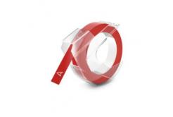 Taśma zamiennik Dymo S0898150, 9mm x 3m, biały druk / czerwony podkład