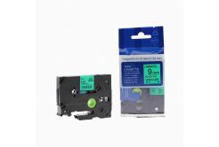 Taśma zamiennik Brother TZ-721 / TZe-721, 9mm x 8m, czarny druk / zielony podkład