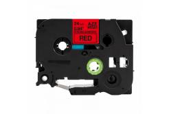 Taśma zamiennik Brother TZ-S451 / TZe-S451, 24mm x 8m, mocno klejący, czarny druk / czerwony podkład