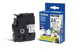 Brother TZ-FX251 / TZe-FX251, 24mm x 8m, czarny druk / biały podkład, taśma oryginalna