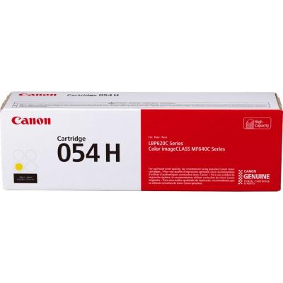Canon toner oryginalny 054HY, yellow, 2300 stron, 3025C002, high capacity, Canon i-SENSYS LBP621Cw, 623Cdw, MF641Cw, 643Cdw, 645Cx