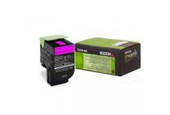 Lexmark 80C2XM0 purpurowy (magenta) toner oryginalny