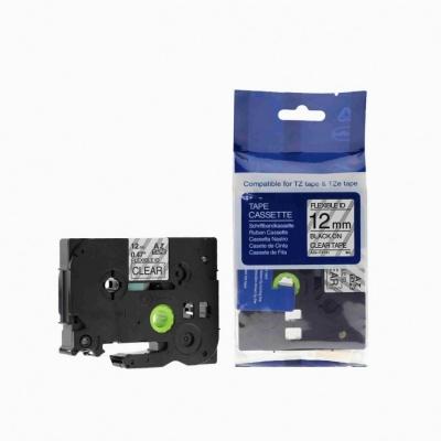 Taśma zamiennik Brother TZ-FX131 / TZe-FX131, 12mm x 8m, flexi czarny druk / przezroczysty podkład