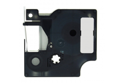 Taśma zamiennik Dymo 18487, 19mm x 5, 5m czarny druk / metaliczny podkład, polyester