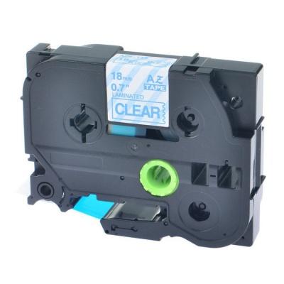 Taśma zamiennik Brother TZ-143 / TZe-143, 18mm x 8m, niebieski druk / przezroczysty podkład