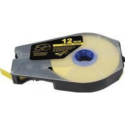 Taśma zamiennik Canon / Partex M-1 Std / M-1 Pro, 12mm x 30m, kazeta, żółty