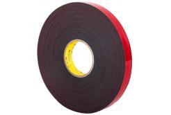 3M VHB 5962-F, 12 mm x 3 m, szaro-czarny dwustronna taśma klejąca akrylowa, 1,5 mm