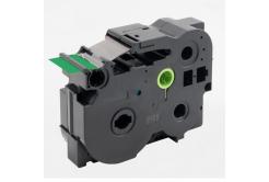 Taśma zamiennik Brother TZ-FX761 / TZe-FX761, 36mm x 8m, flexi, czarny druk / zielony podkład