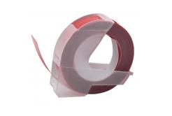 Dymo Omega, 9mm x 3m, biały druk / kasztanowaty podkład, taśma zamiennik