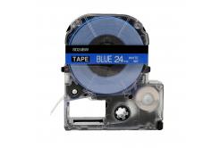 Epson LC-SD24BW, 24mm x 8m, biały druk / niebieski podkład, taśma zamiennik