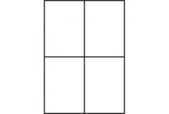 Samoprzylepne etykiety 105 x 148 mm, 4 etykiety, A4, 100 arkuszy